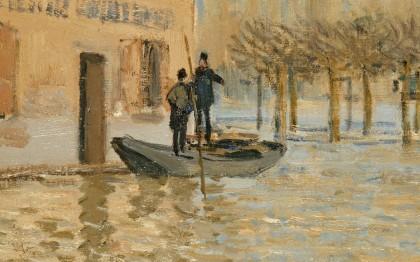 La Barque pendant l'inondation,Port Marly